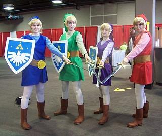 Link Four Swords Cosplay Legend of Zelda-- Four Swords-