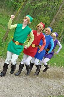 Link Four Swords Cosplay Legend Of Zelda - Four Swords